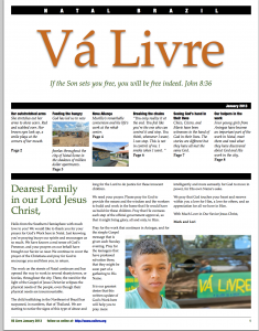 cover of the new 2013 newsletter